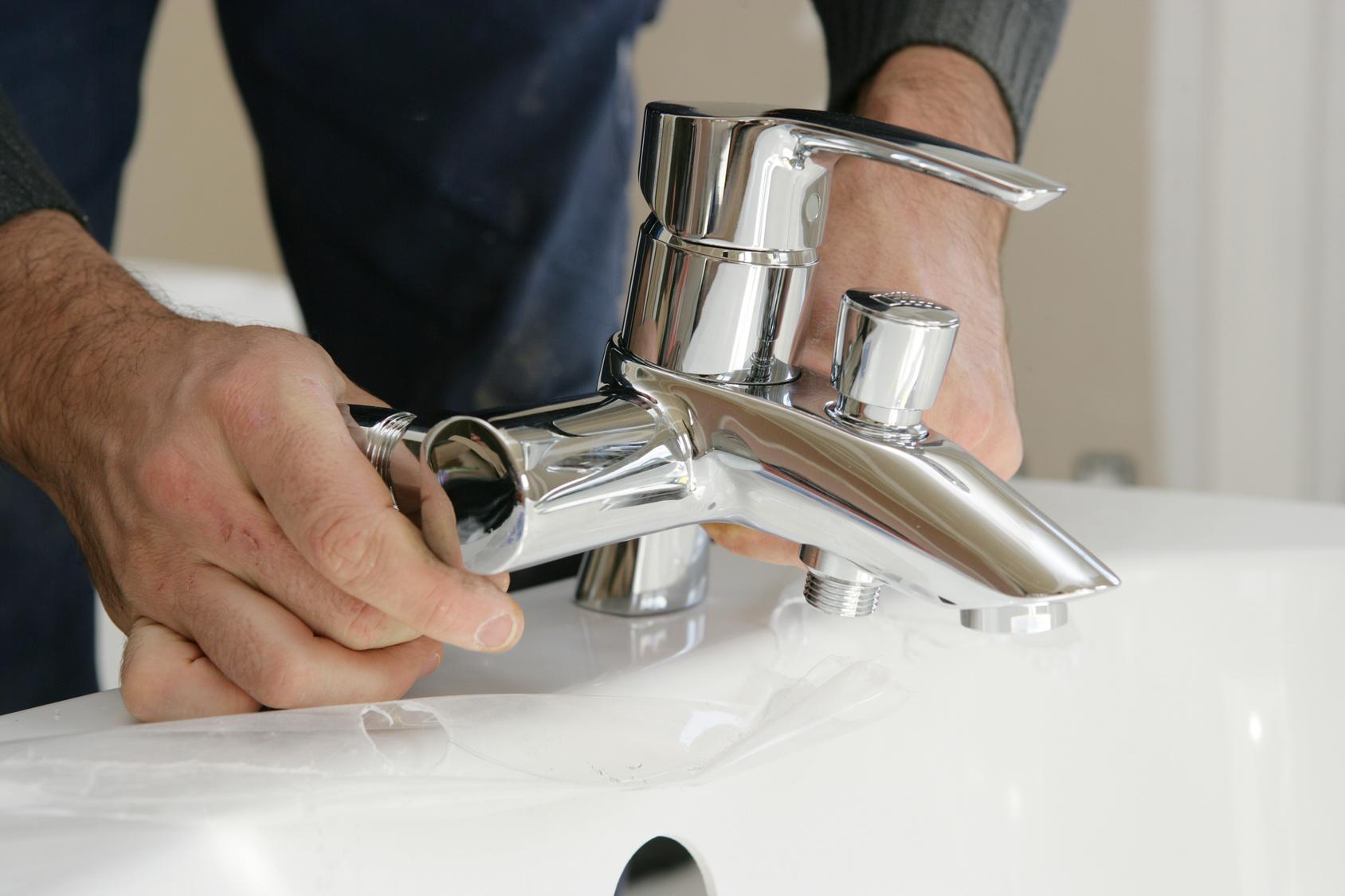 robinet lavabo soudé
